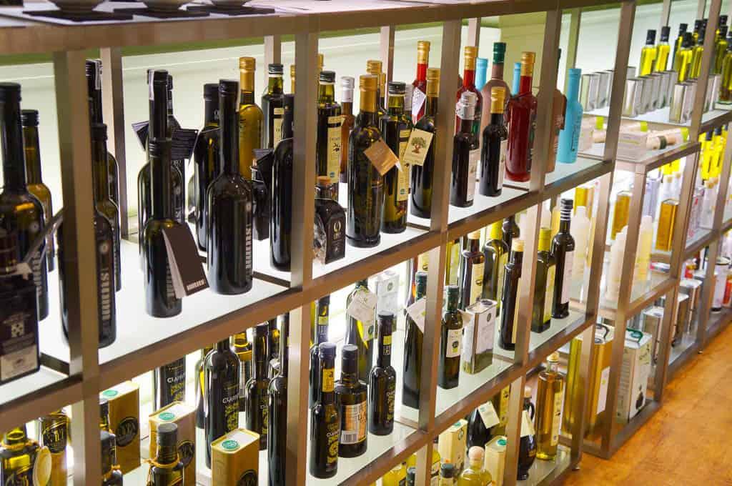 Tasting olive oil on a Barcelona food tour