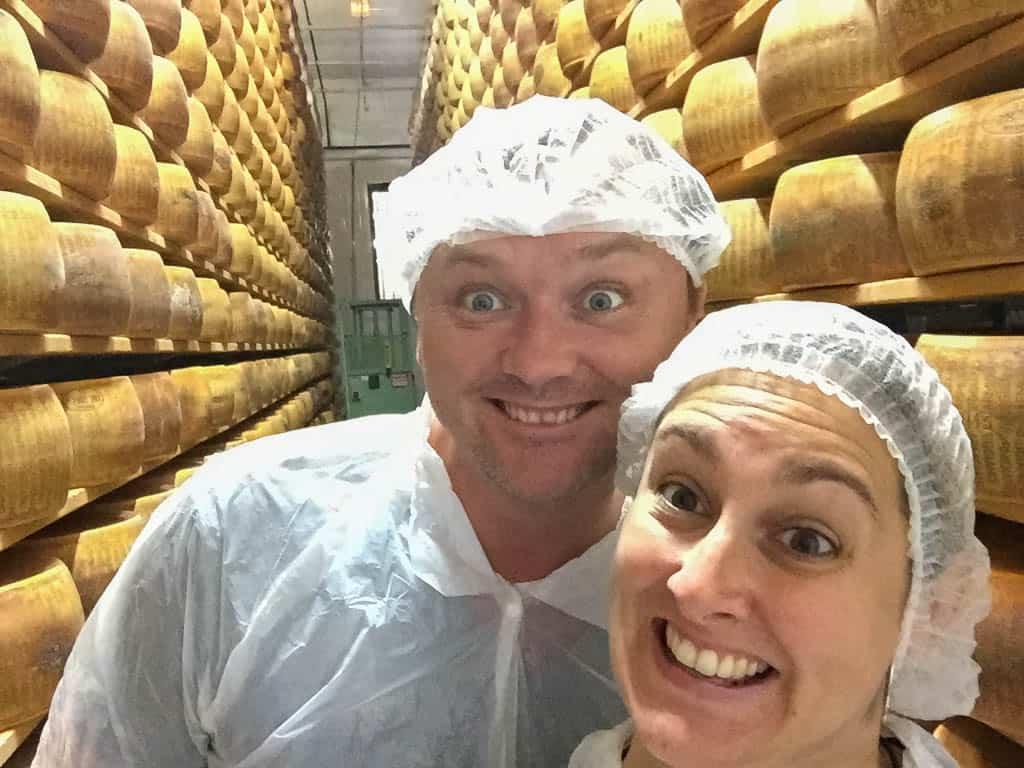 Touring a Parmigiano Reggiano factory on a Bologna Food Tour