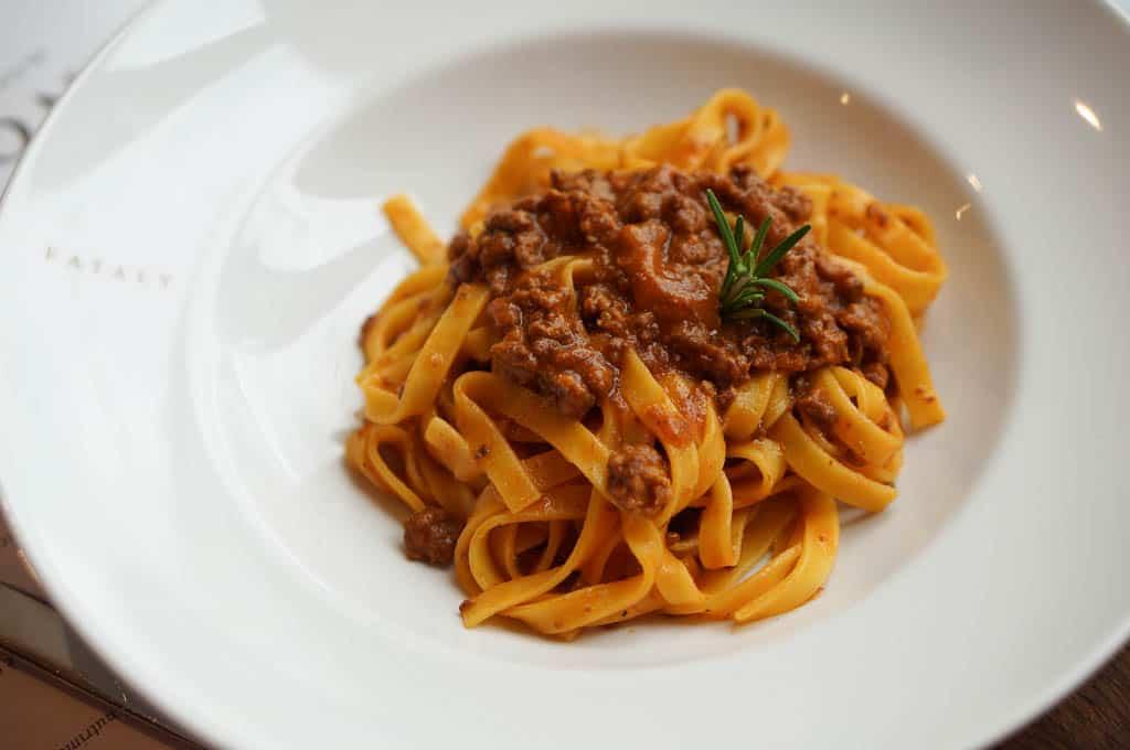 Tagliatelle Ragu - Modena Italy Food