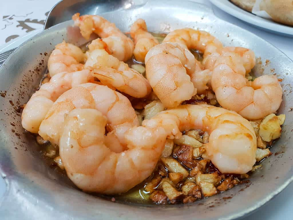 portugal cuisine at the best Lisbon Restaurants - shrimp at Ramiro