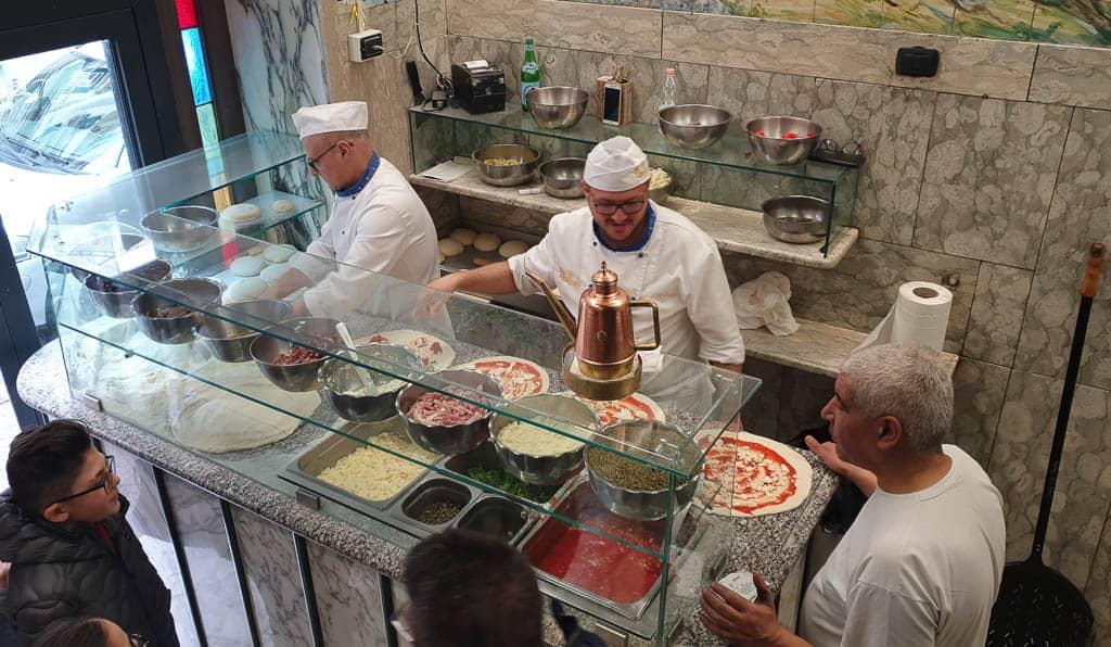 Naples Italy Pizza Shops