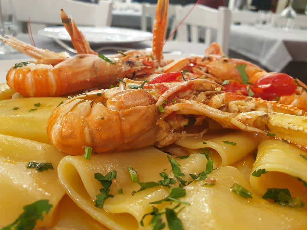 best pasta in Naples Italy - seafood pasta