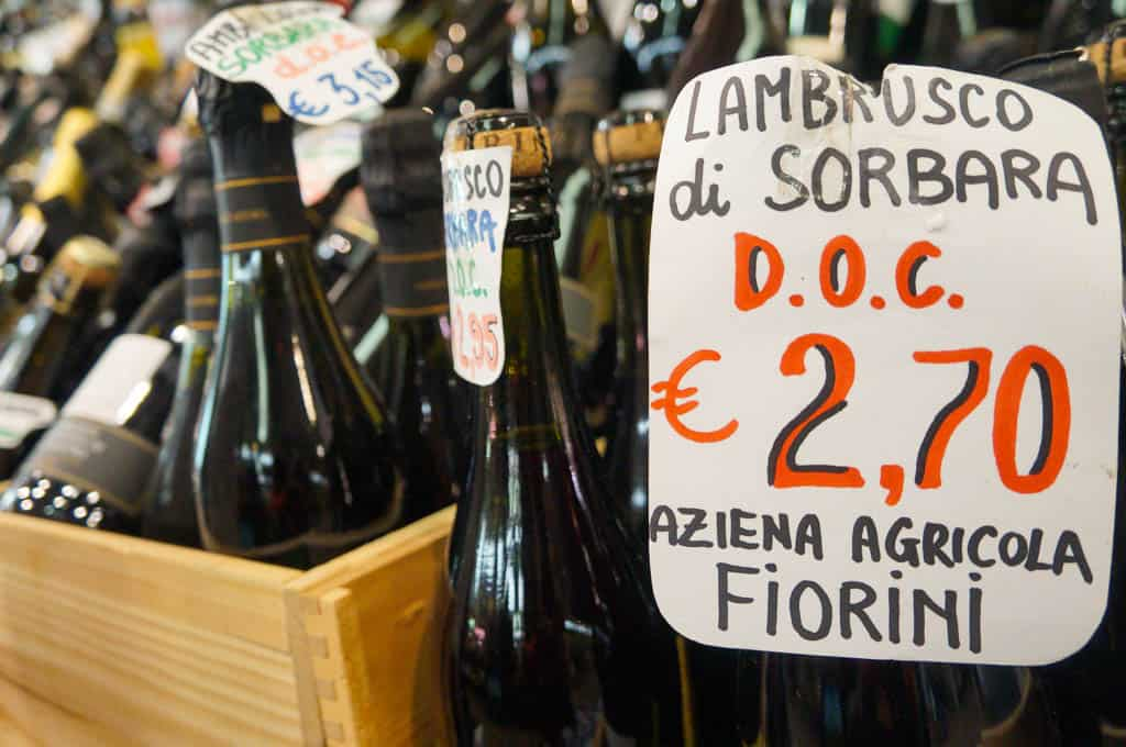 What to drink in Modena - Lambrusco