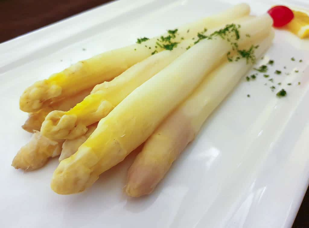 traditional food of luxembourg - white asparagus