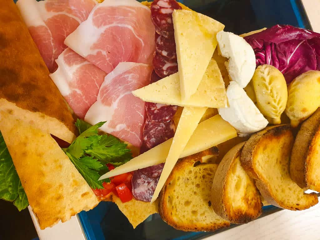 Sardinia cuisine - tagliere cured meats and cheese