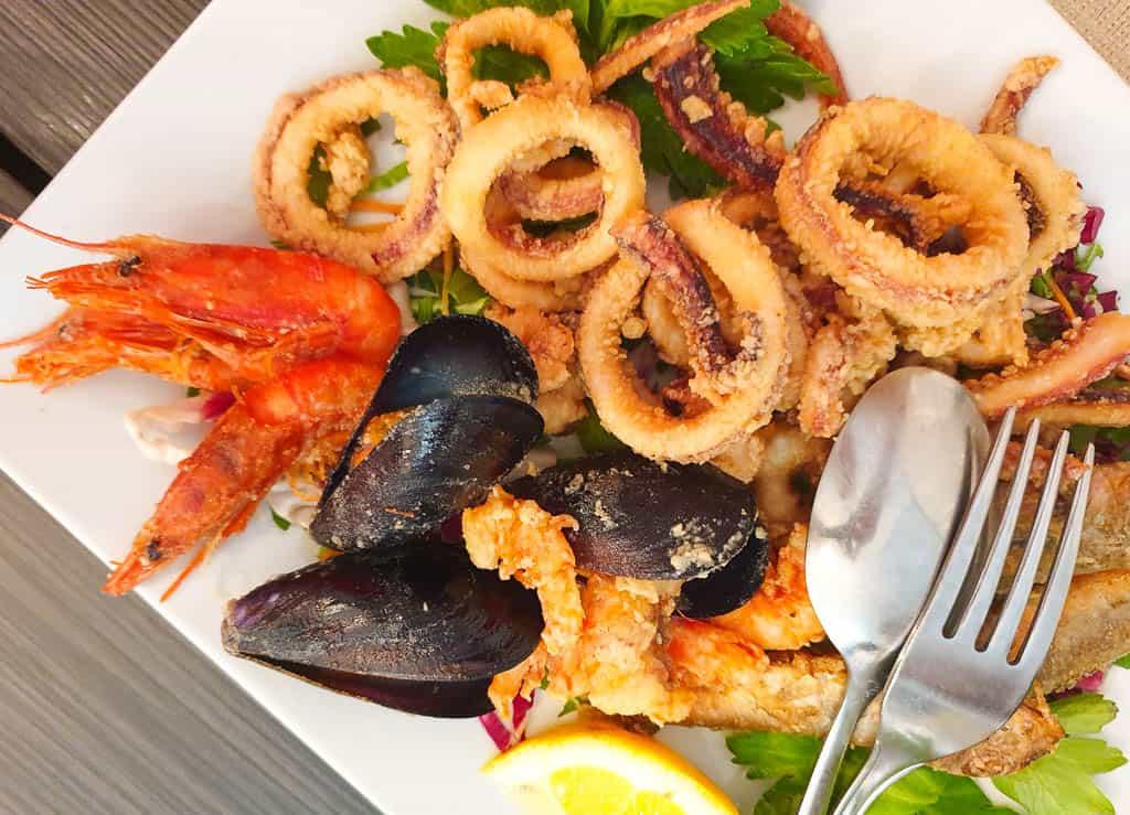 Sardinian fish and seafood