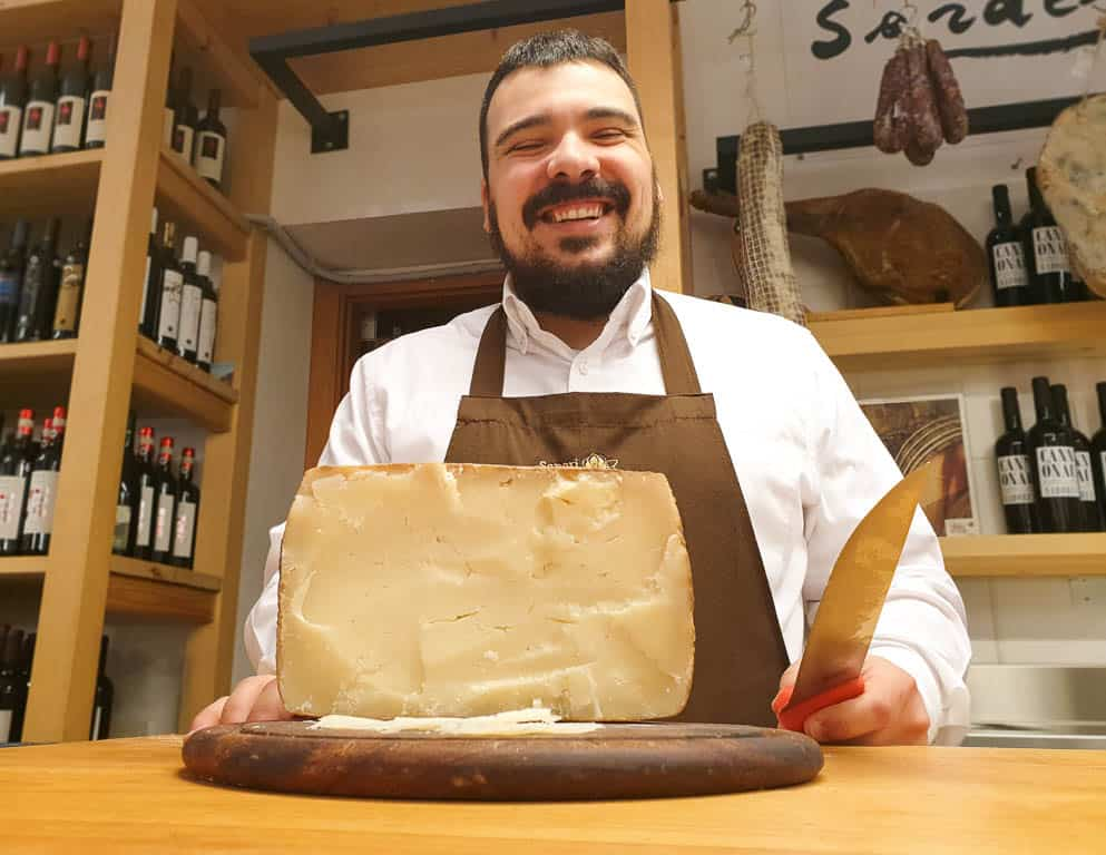 Sardinia Italy food and cheese