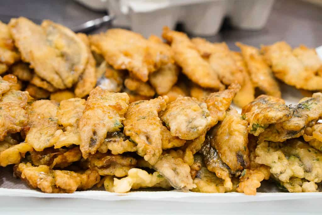 traditional catalonian food - fried boquerones