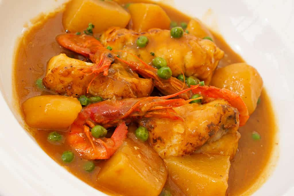 typical Catalan seafood dish - suquet