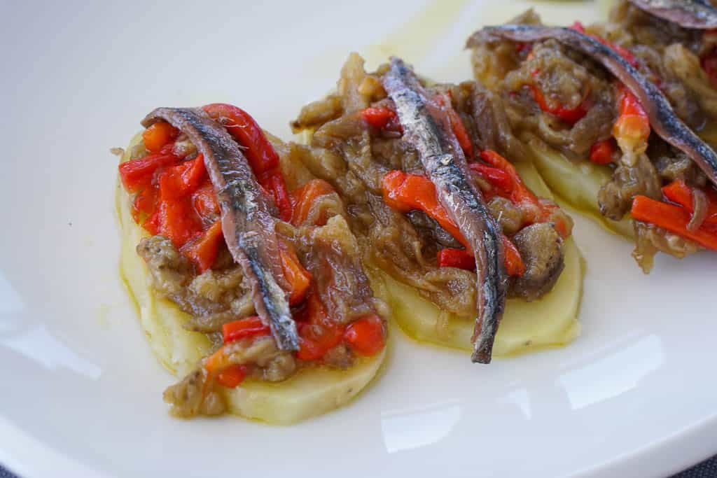 tapas in Catalan - anchovies