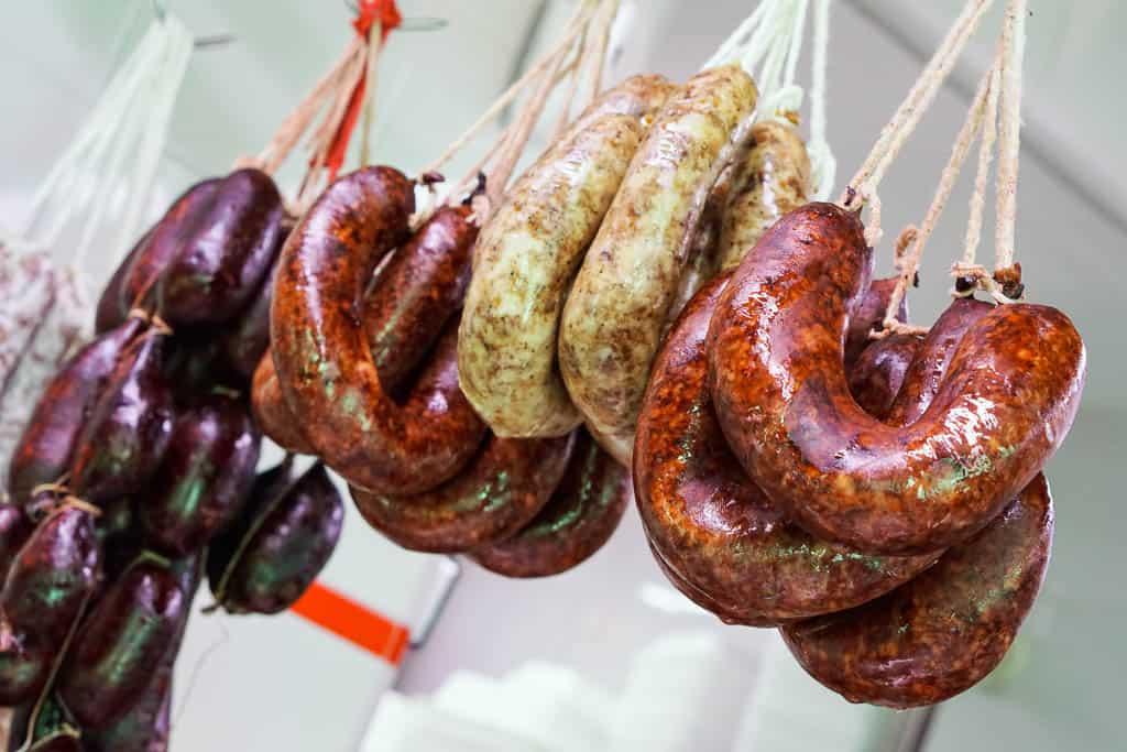 food from Catalonia - embotits and botifarra