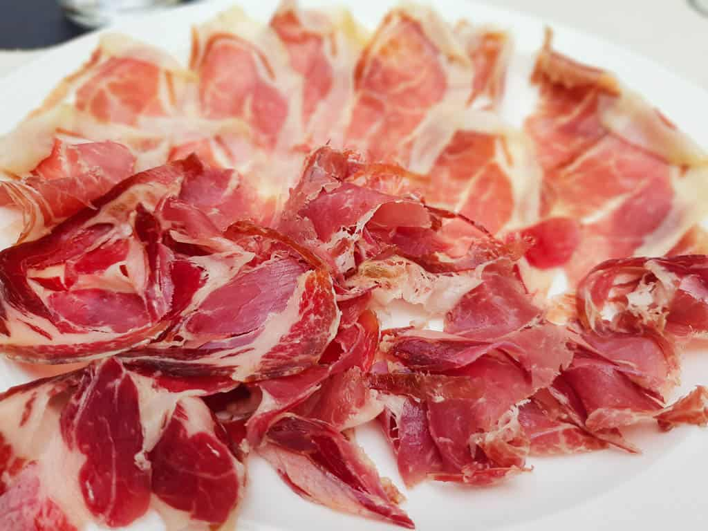 Eating jamon in Catalonia
