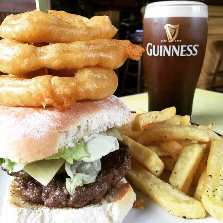 popular food in Ireland - Irish beef hamburgers