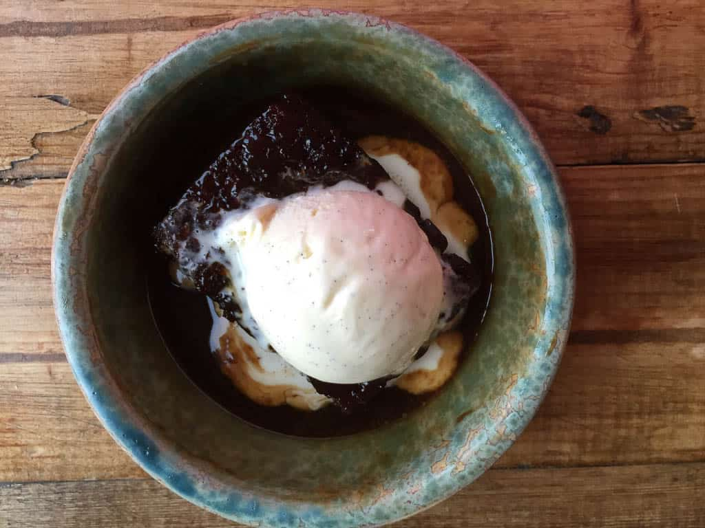 Irish desserts - sticky toffee pudding