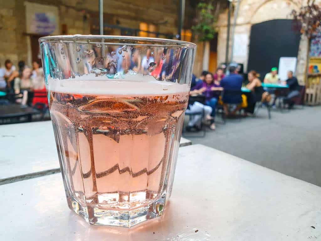 drinking Fröccs in Budapest
