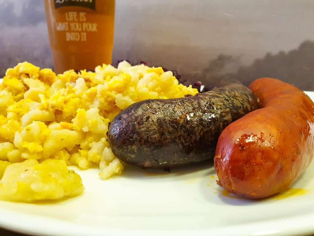 popular Hungarian food - sausages