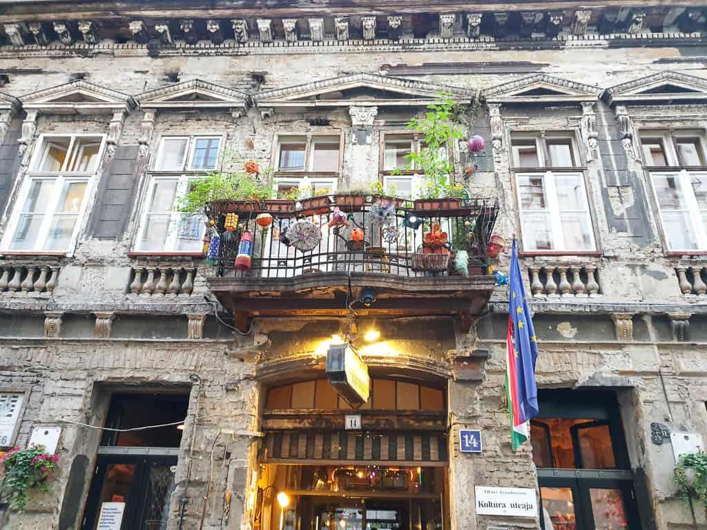 Szimpla Kert Ruin Bar on bar street in Budapest