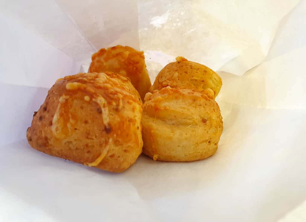 sajtos pogácsa - cheese scones in Budapest