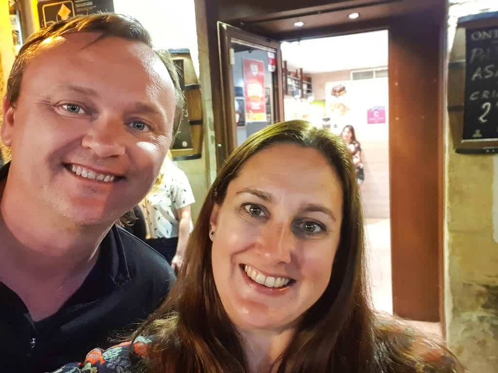 Eating Tapas on Calle Laurel in Logrono