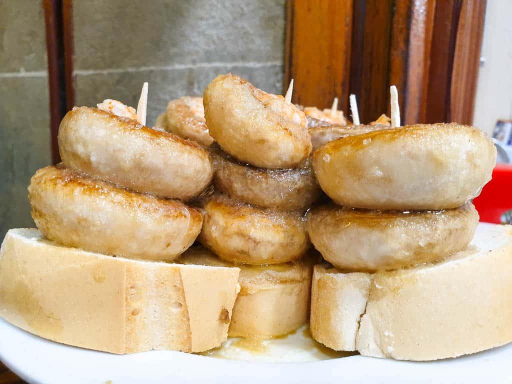 Grilled Mushrooms at Bar Soriano Logrono