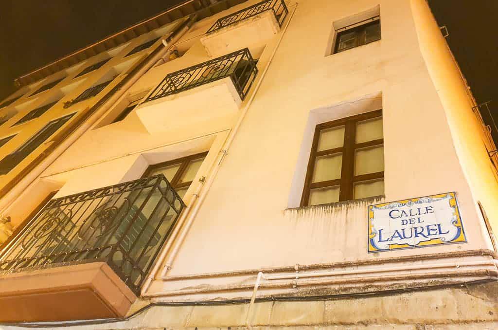 Calle Laurel street of tapas logroño