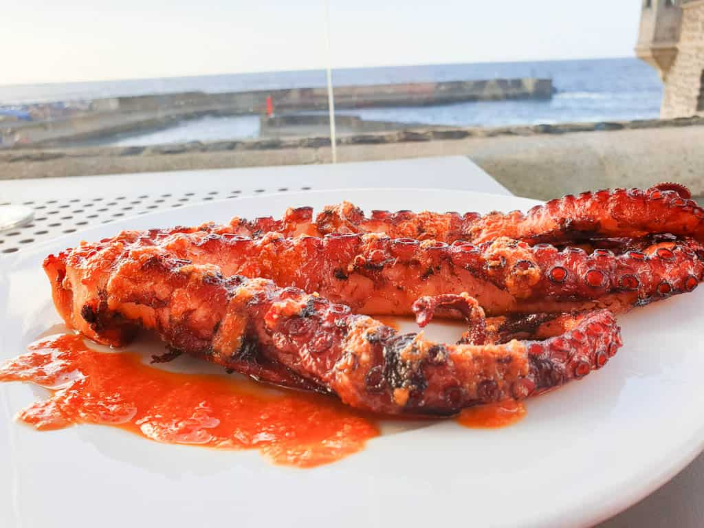 Eating Pulpo in Spain