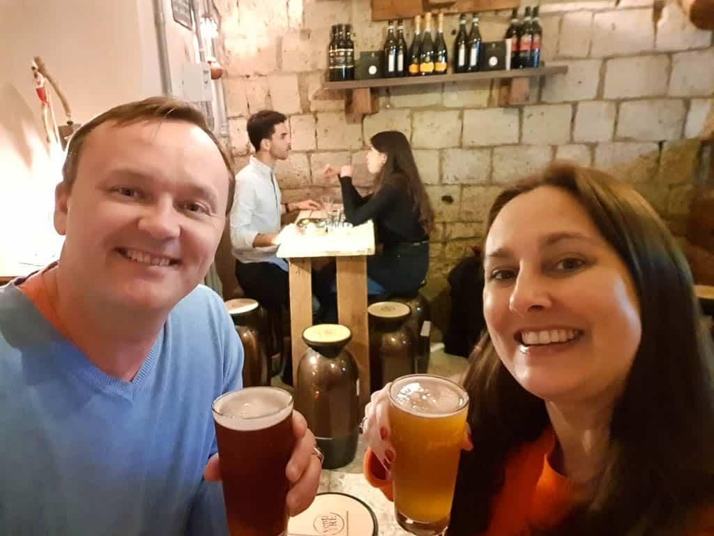 drinking craft beer in Naples