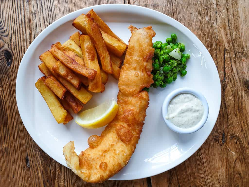 Eating a Fish Supper In Scotland