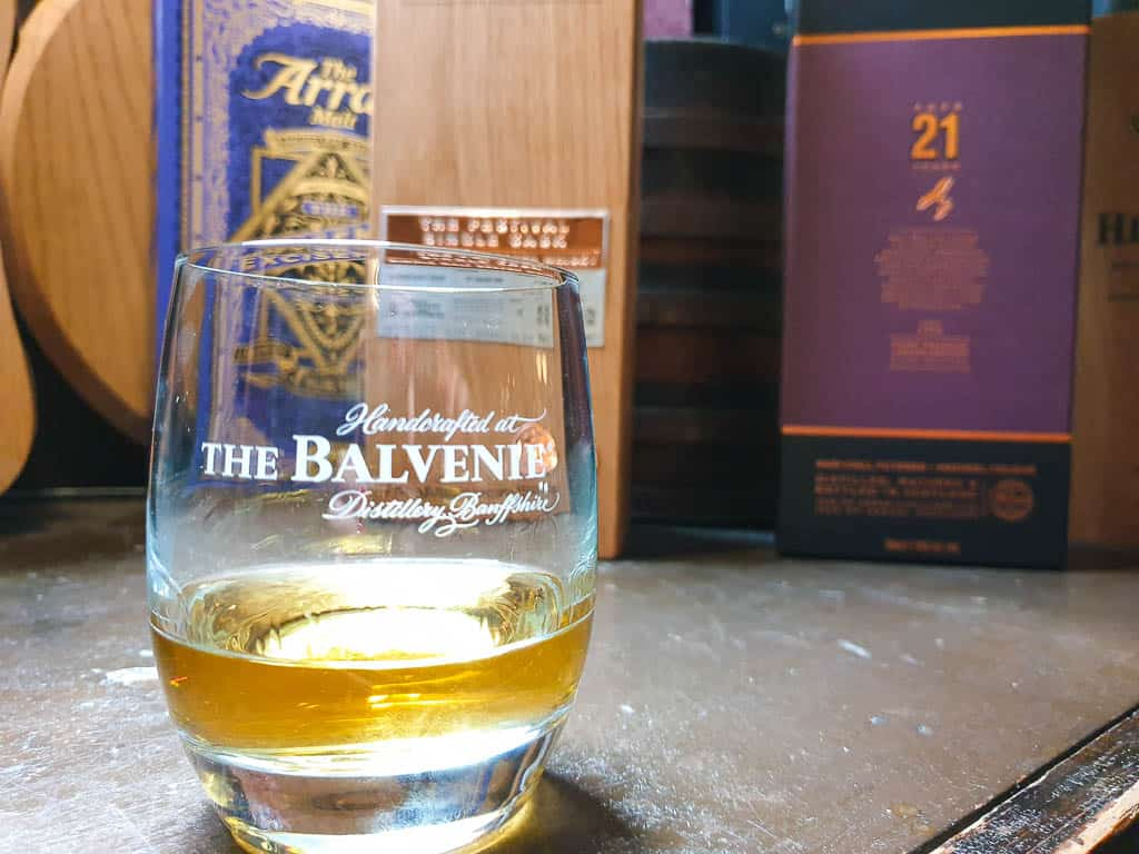 drinking whisky in Edinburgh