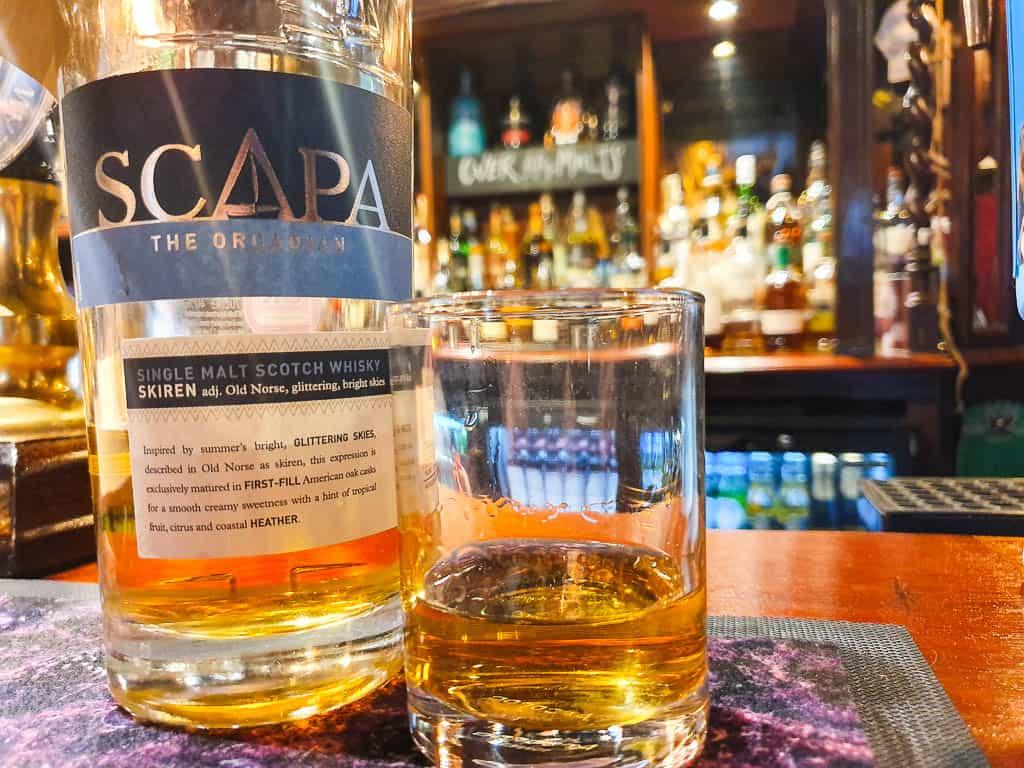 The Scotia whisky bar