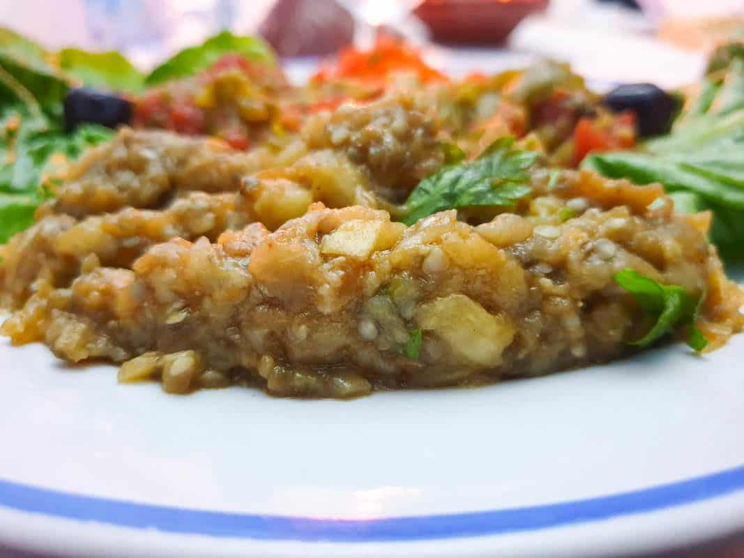 Moroccan eggplant salad Zaalouk