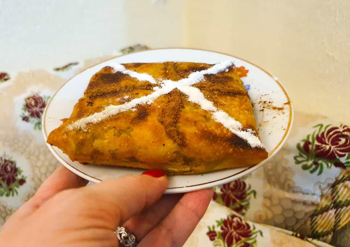 Eating Pastilla In Fes - Pigeon Pie