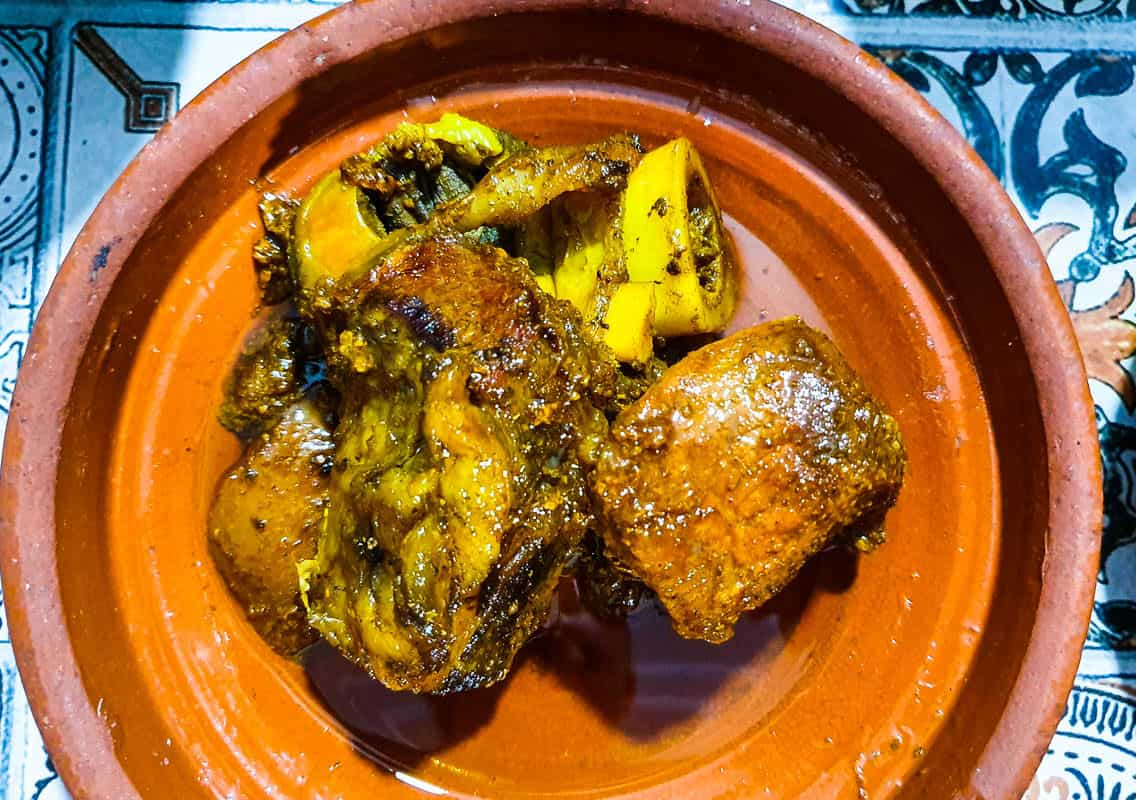 Eating Tangia in Marrakech