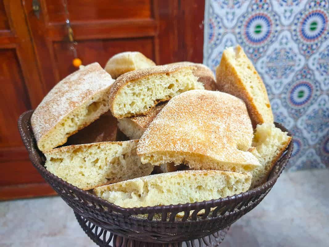 famous moroccan food - Khobz Moroccan Bread