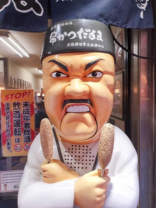 Daruma Angry Chef In Osaka