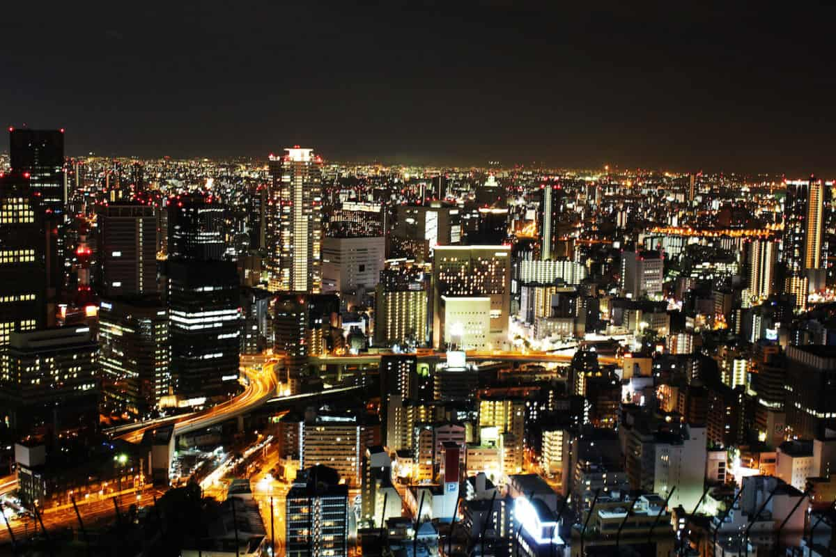 what to do in osaka at night