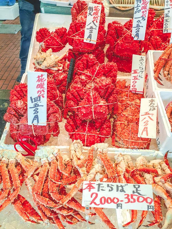 hokkaido winter season crab