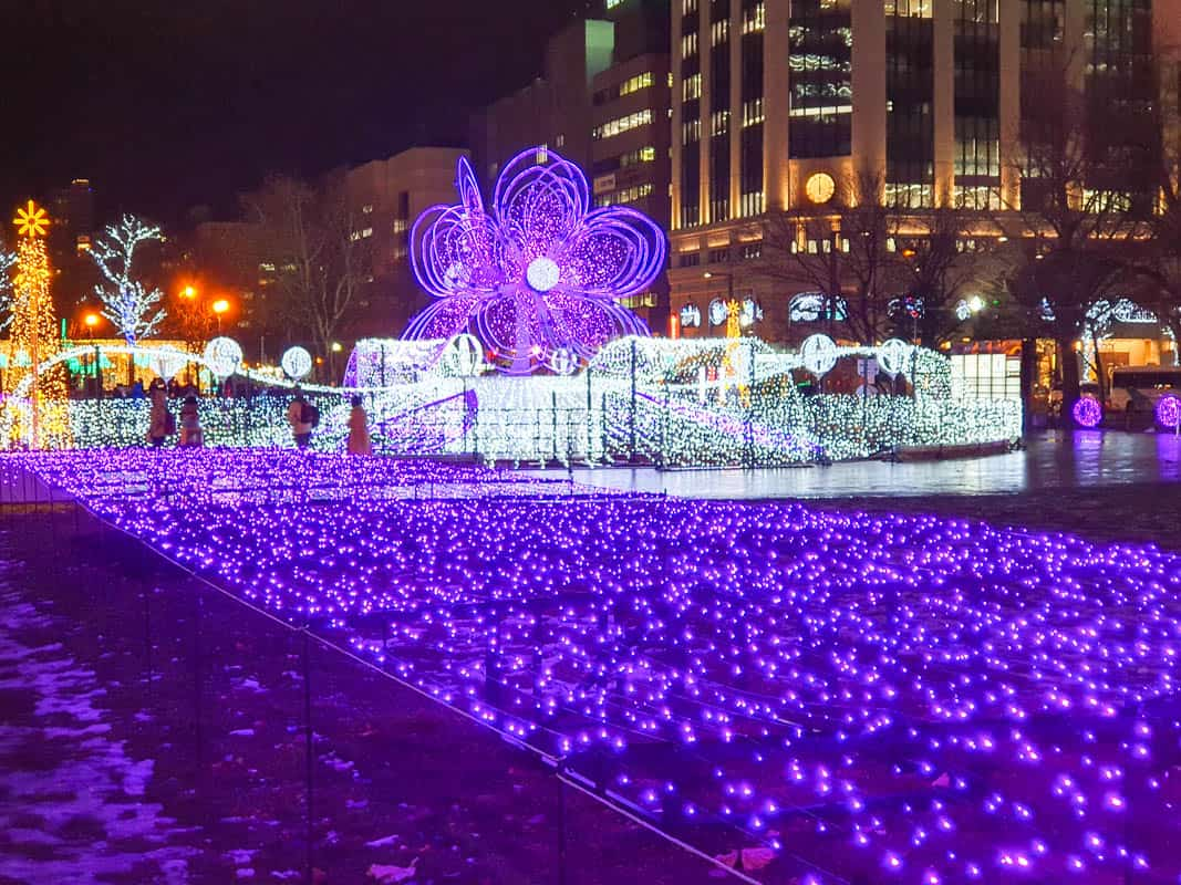 Sapporo White Illumination - Odori Park In Winter
