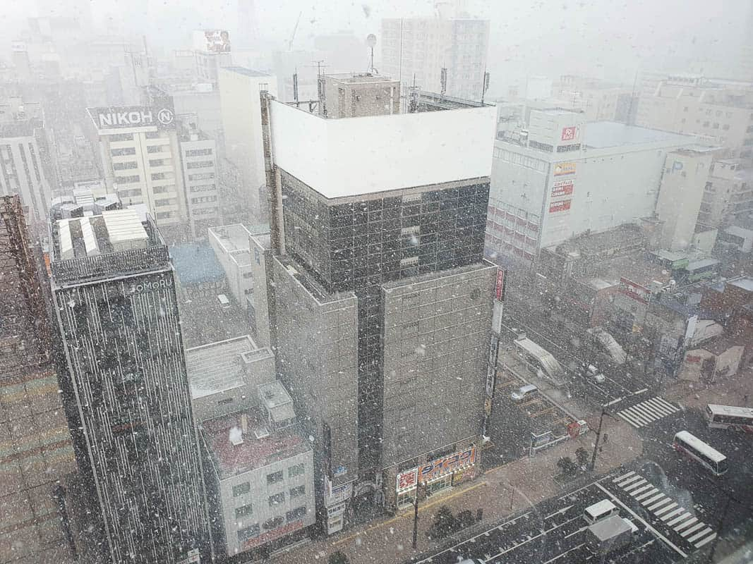 Where to stay in Sapporo - Susukino in winter
