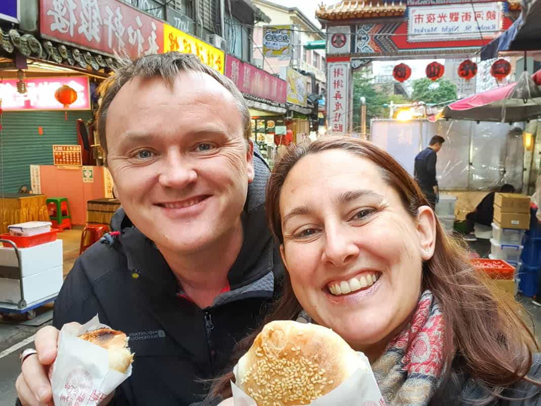 Eating street food when traveling