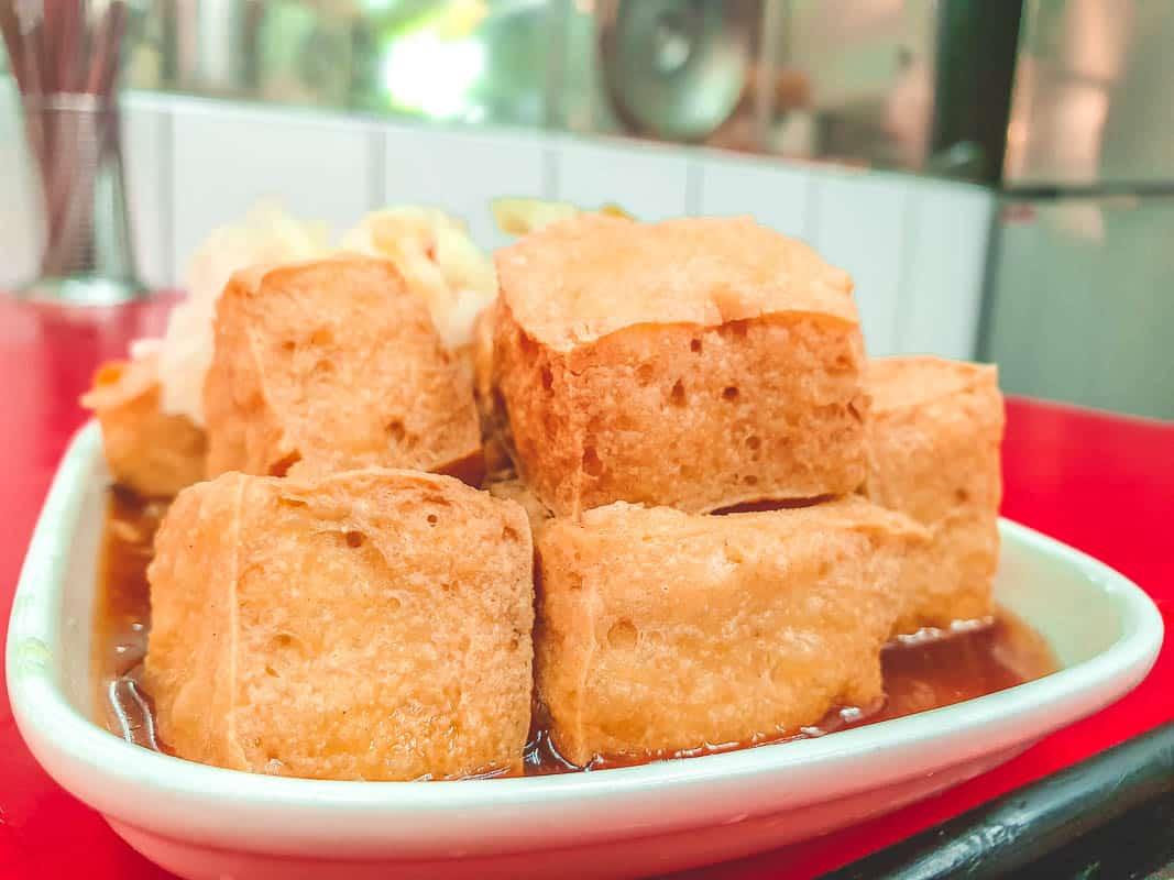Stinky tofu in Taipei