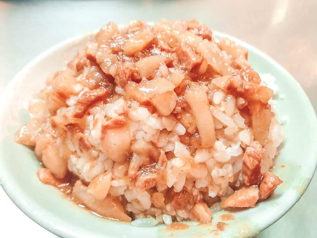 Braised pork over rice in Taipei