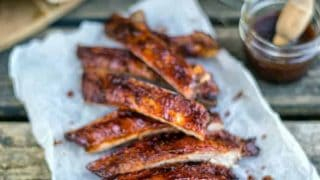 Dry-rubbed Ribs With Bourbon Spiked BBQ Sauce