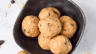 Coffee Chocolate Chip Protein Bites (Gluten Free)