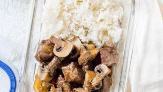 Instant Pot Japanese Hibachi Steak and Mushrooms