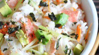 Slacker Japanese Sushi Rice Bowl Recipe