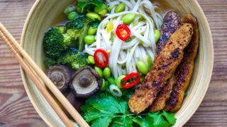 Instant Pot Udon Soup - Vegan