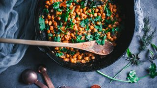 Herbed Orange Harissa Chickpeas