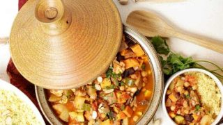 Moroccan Chickpea Vegetable Tagine