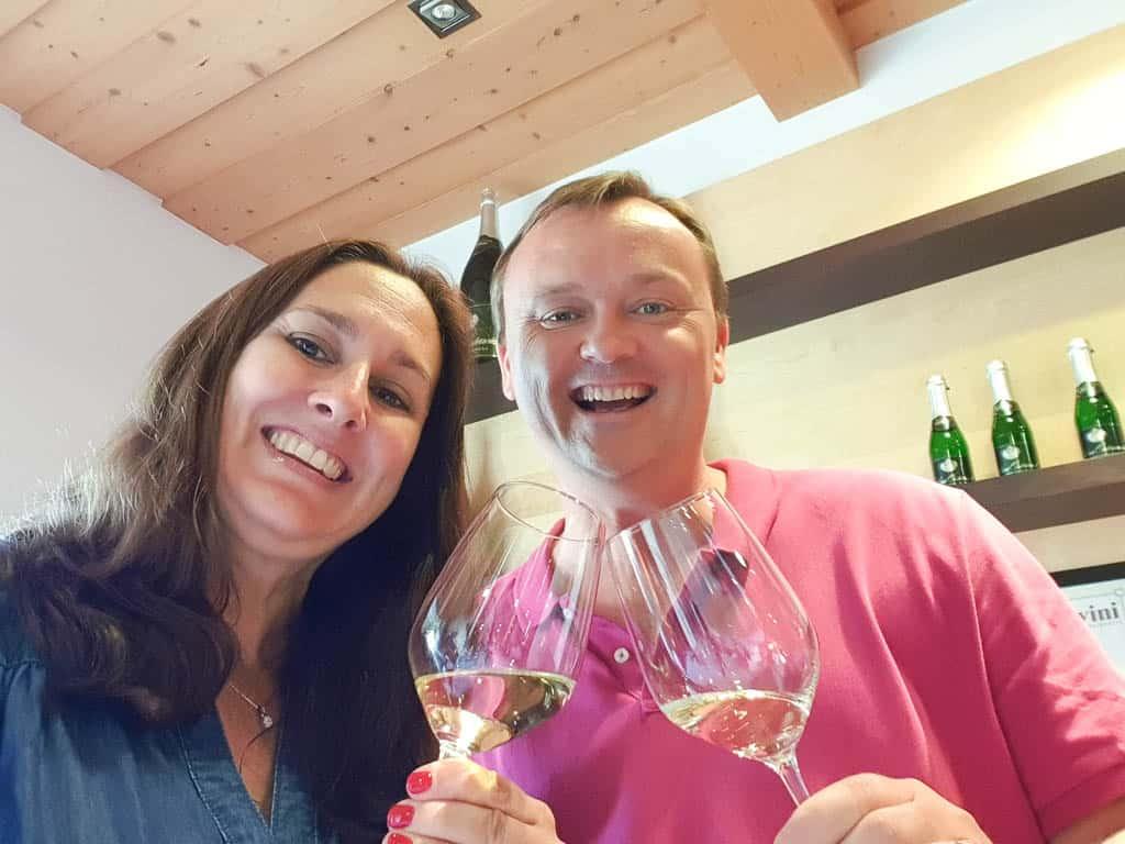 Drinking wine in Austria